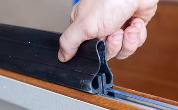 Garage door weather seal repairs