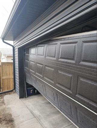 Slanted Garage Door