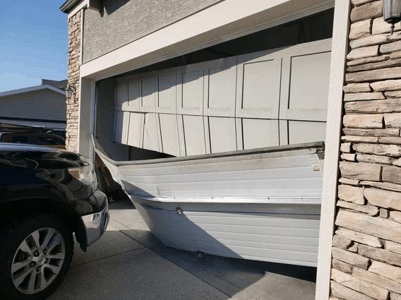 Extensive Garage Door Damage